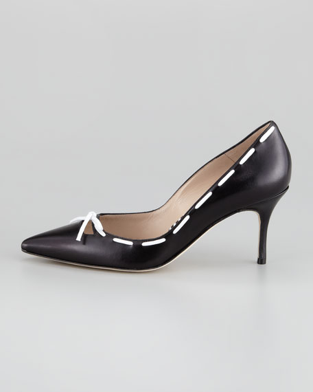 Conti Bow Pump, Black/White