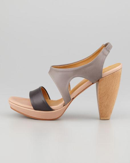 Fintona Wooden-Heel Platform sandal