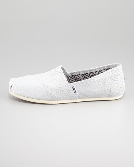 Snake-Embossed Slip-On, Neutral