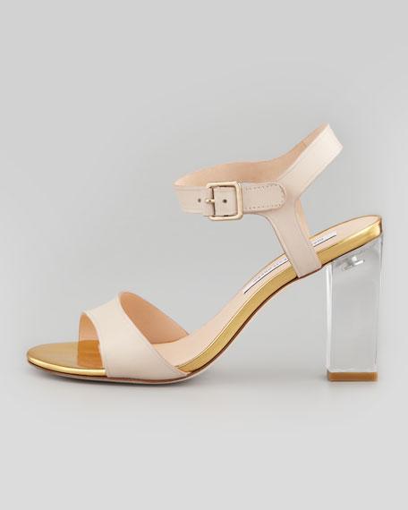 Patmos Clear-Heel Sandal