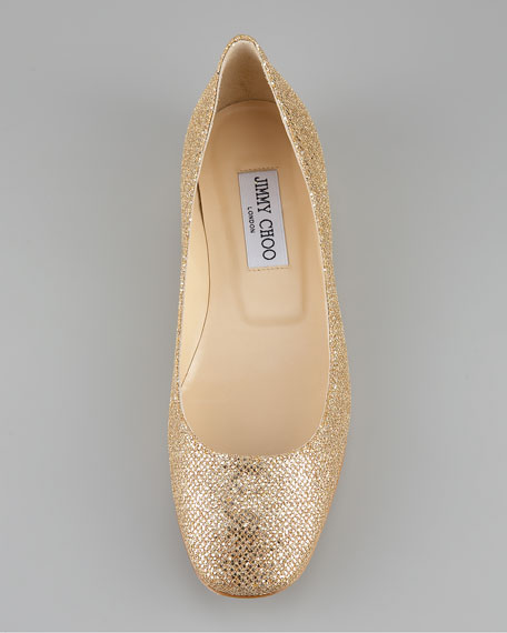Finlay Square-Toe Flat, Gold