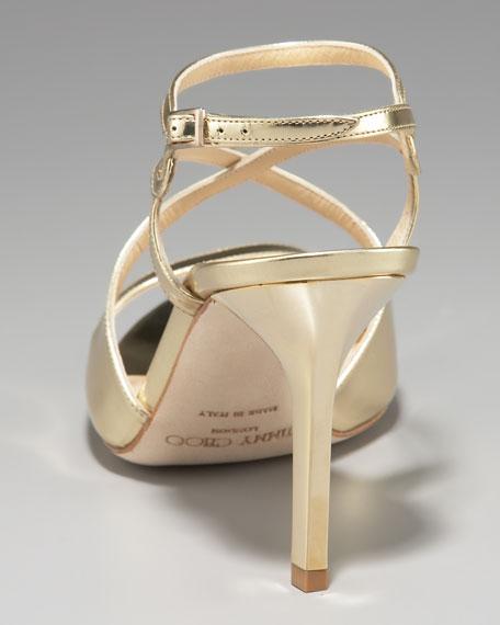 Paxton Strappy Metallic Sandal, Gold