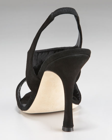 Frontal Suede Slingback