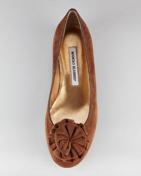 Gisina Flower-Toe Mink Ballerina Flat