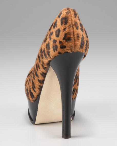 Leopard-Print Fendista Pump