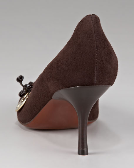 Scalloped Suede Pump