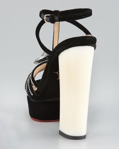 Arlena Cameo Velvet Sandal
