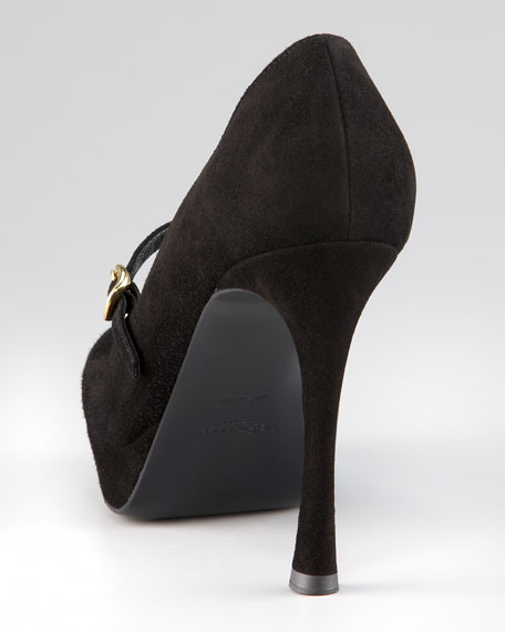 Suede Mary Jane, Black