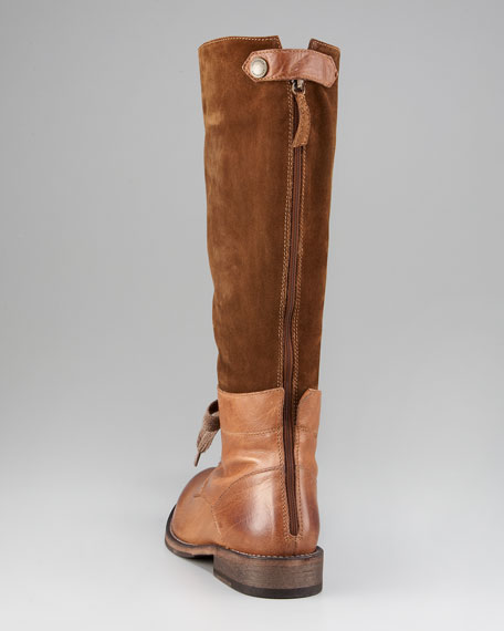 Lace-Up Knee Boot