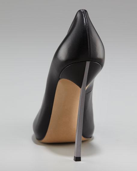 Pointed-Toe Blade-Heel Pump