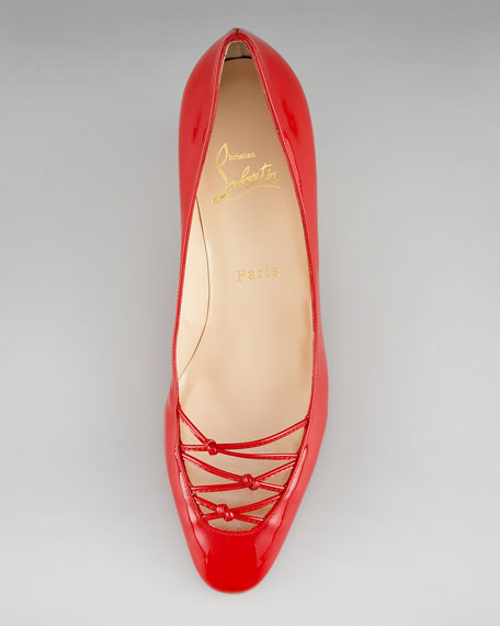 Knotted-Vamp Pump, Red