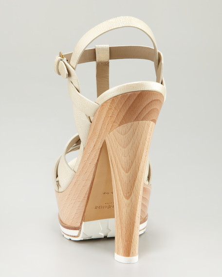 Tribute Wood Platform Sandal