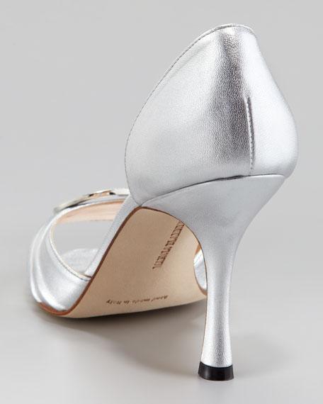 Sedaraby Bejeweled Pump, Silver