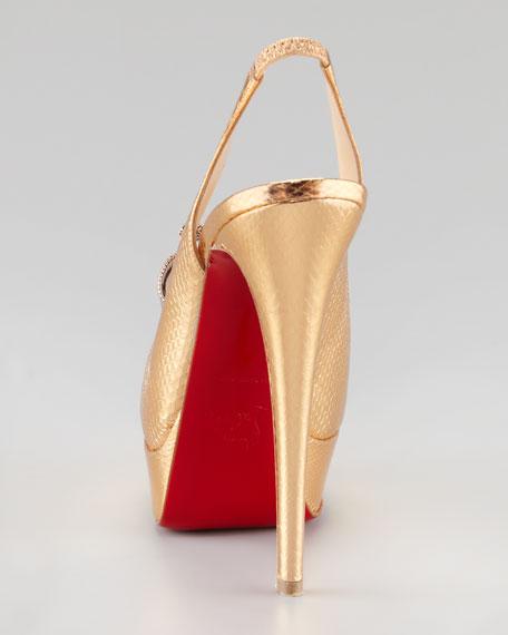 Lady Peep Slingback Red Sole Pump