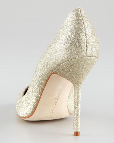 Gold Glitter Pump