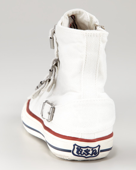 Canvas Buckle Hi-Top Sneaker