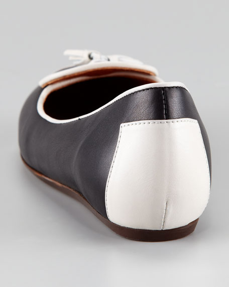 Two-Tone Tassel Loafer