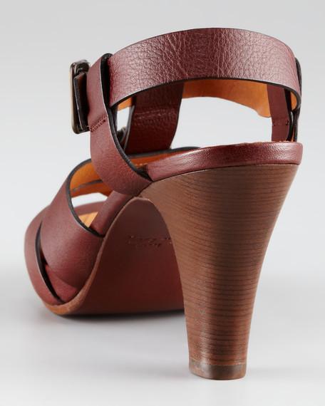 Buckle Platform Sandal