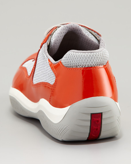 Lace-Up Sport Sneaker, Orange