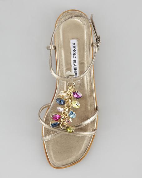 Kioko Bejeweled T-Strap Sandal