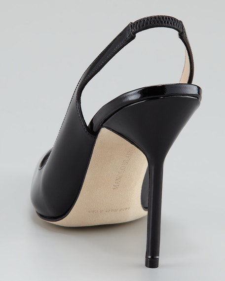 Marca Pointed-Toe Slingback Pump