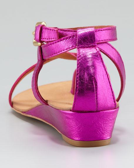 Strappy Mini-Wedge Sandal