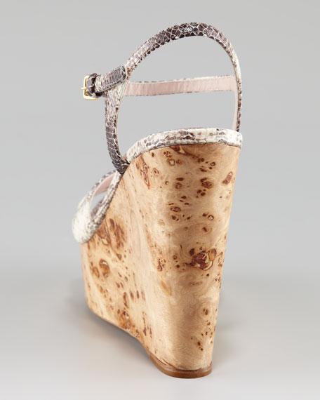 Wood-Wedge Platform Sandal