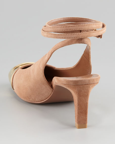 Candide Ankle-Wrap Pump