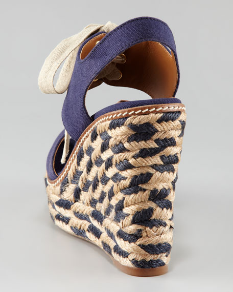 Linley Lace-Up Espadrille, Navy
