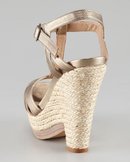 T-Strap Jute Wedge Sandal