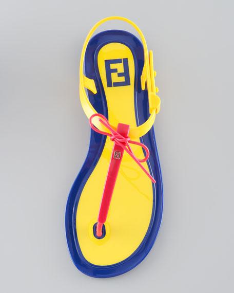 Jelly Flat Thong Sandal, Pink