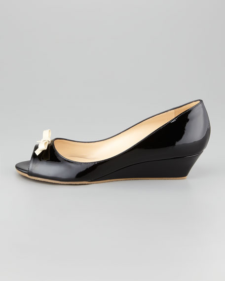 tiffany patent leather wedge