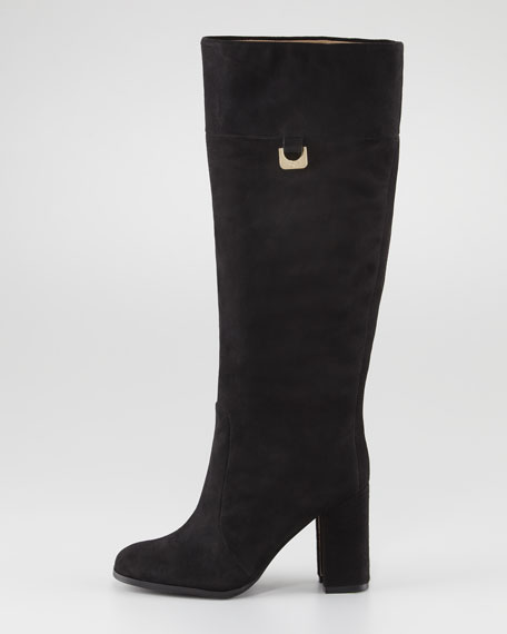 Yvonne Suede To-the-Knee Boot