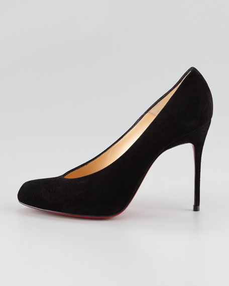 Yousra High-Cut Red Sole Pump