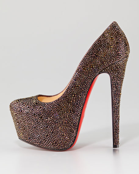 Dafodile Strass Crystal Red Sole Pump