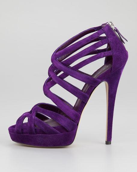 Strappy Platform Suede Sandal