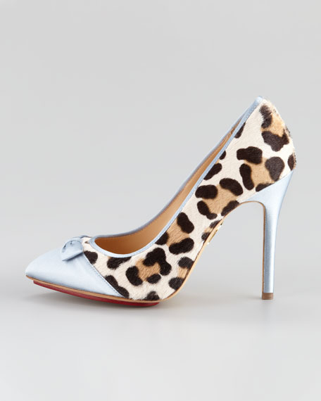 Grace Bridal Leopard-Print Pump