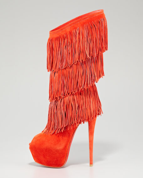 Highness Tina Fringe Red Sole Boot