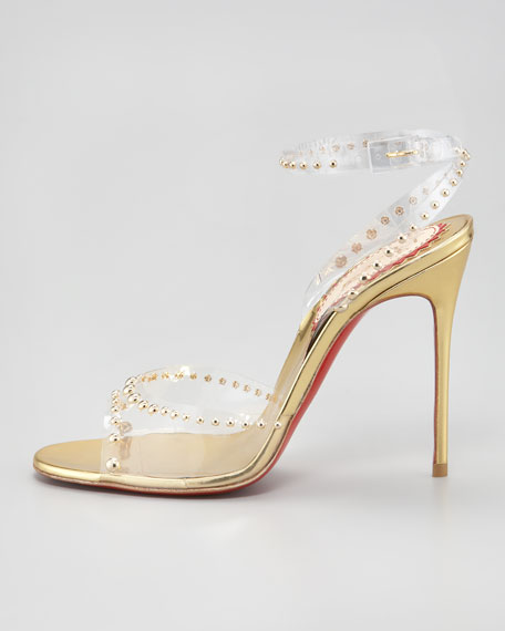Icone A Clous Red Sole Sandal, Gold