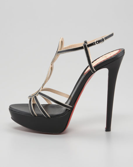 Troisronds Leather Red Sole Sandal