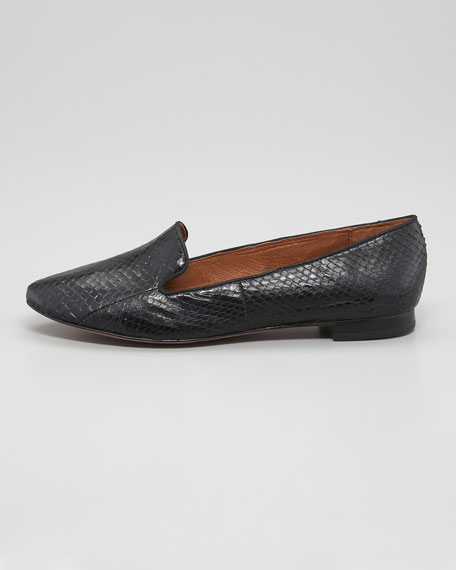 Alvin Snake-Embossed Slipper