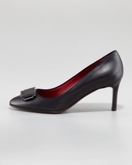 Leather Buckle Pump
