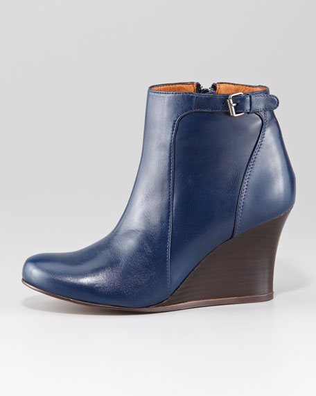 Wedge Ankle Boot, Blue