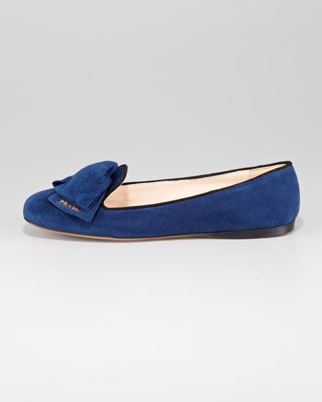 Suede Bow Slipper