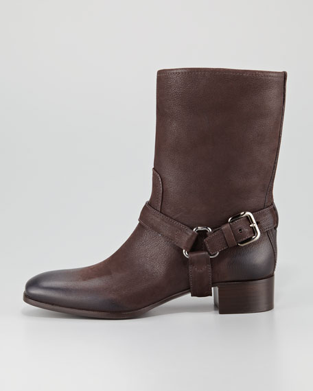 Moto Leather Short Boot