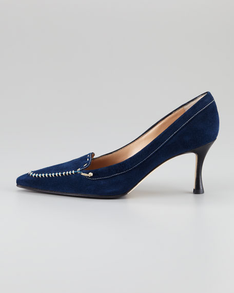 Holmes Whipstitched Pump, Navy