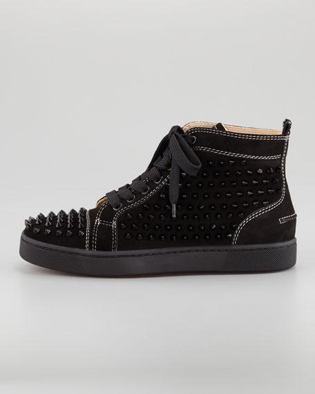 Louis Spiked Sneaker, Black
