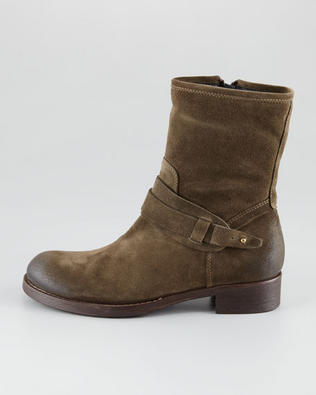 Suede Moto Boot