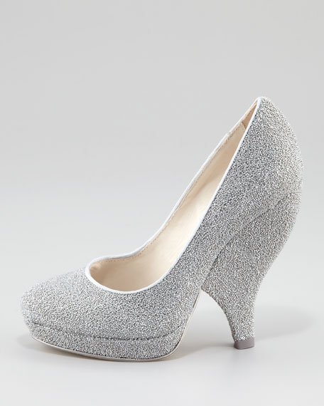 Robyn Caviar Beaded Pump