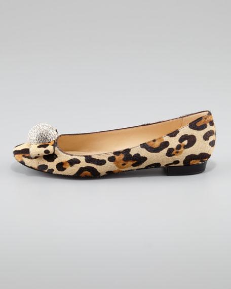 nadira leopard-print ballerina flat